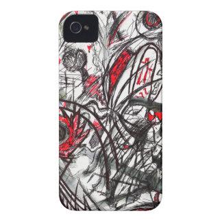 Funda Para iPhone 4 De Case-Mate Manos del dibujo de la pluma de la rabia