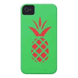 Funda Para iPhone 4 De Case-Mate Manzana del pino rojo en verde