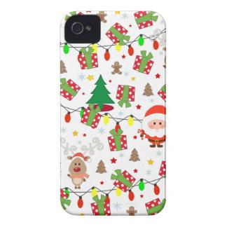 Funda Para iPhone 4 De Case-Mate Modelo de Santa y de Rudolph