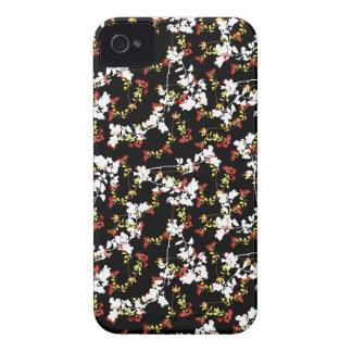 Funda Para iPhone 4 De Case-Mate Modelo floral del collage del Chinoiserie oscuro