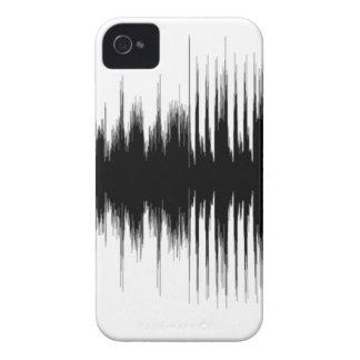 Funda Para iPhone 4 De Case-Mate Música aural audio Recording.pn musical de la