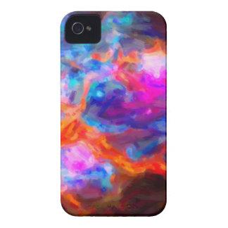 Funda Para iPhone 4 De Case-Mate Nebulosa galáctica abstracta con la nube cósmica 7