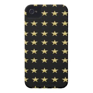Funda Para iPhone 4 De Case-Mate Negro de las estrellas de la suerte con diseño de