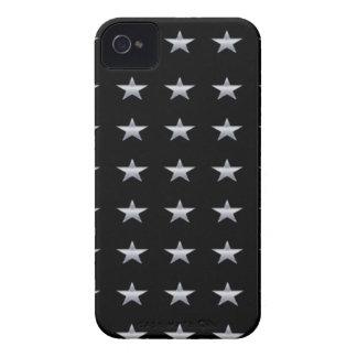Funda Para iPhone 4 De Case-Mate Negro de las estrellas de la suerte con el diseño
