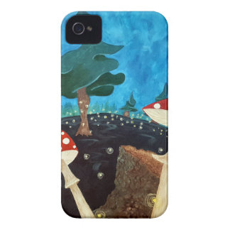 Funda Para iPhone 4 De Case-Mate noche trippy en las maderas