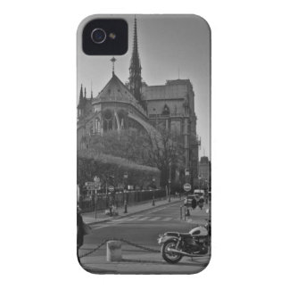 Funda Para iPhone 4 De Case-Mate París negra y blanca Notre Dame