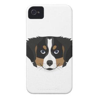 Funda Para iPhone 4 De Case-Mate Perro de montaña de Bernese del ilustracion