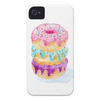 Funda Para iPhone 4 De Case-Mate Pila de la acuarela de anillos de espuma