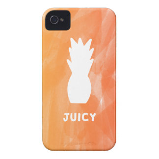 Funda Para iPhone 4 De Case-Mate Piña de la acuarela - naranja/rojo