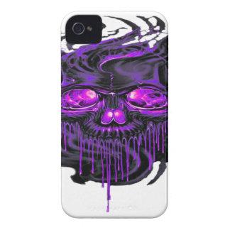Funda Para iPhone 4 De Case-Mate Png púrpura de los esqueletos de Nerpul