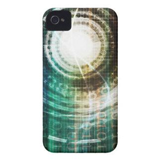 Funda Para iPhone 4 De Case-Mate Portal futurista de la tecnología con Digitaces