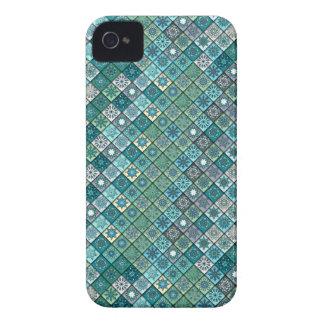 Funda Para iPhone 4 De Case-Mate Remiendo del vintage con los elementos florales de