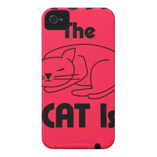 Funda Para iPhone 4 De Case-Mate ¡SHUSH! El gato está durmiendo