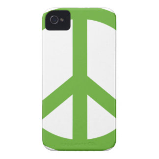 Funda Para iPhone 4 De Case-Mate Símbolo verde del signo de la paz