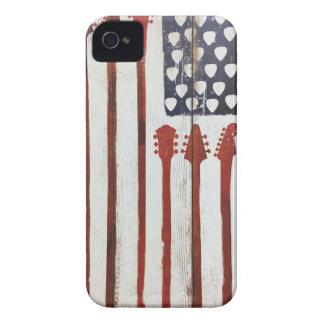 Funda Para iPhone 4 De Case-Mate Tema patriótico de la música de la guitarra de la