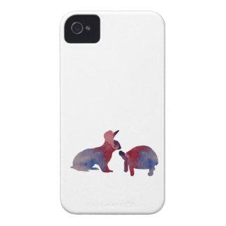 Funda Para iPhone 4 De Case-Mate Un conejo y una tortuga