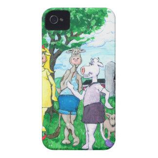 Funda Para iPhone 4 De Case-Mate Vacas lecheras que llevan la ropa de calle