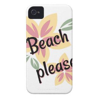 Funda Para iPhone 4 De Case-Mate Verano floral - playa por favor