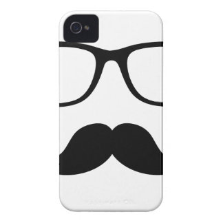 Funda Para iPhone 4 De Case-Mate Vidrios del inconformista y bigote del manillar
