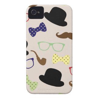 Funda Para iPhone 4 De Case-Mate Vidrios, gorras y bigote