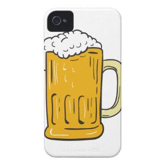 Funda Para iPhone 4 Dibujo de la taza de cerveza