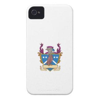 Funda Para iPhone 4 Dibujo del escudo del casco del caballero del búho