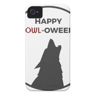 Funda Para iPhone 4 Diseño feliz de Halloween del hombre lobo del