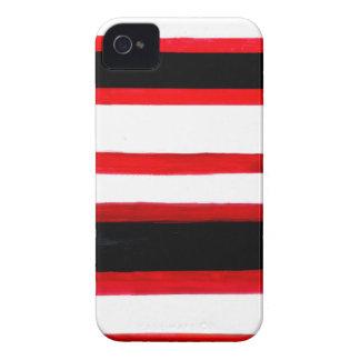 Funda Para iPhone 4 Diseño rayado de la abstracción