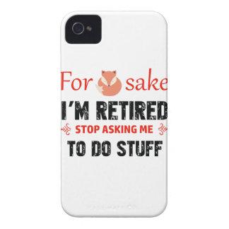 Funda Para iPhone 4 Divertido soy diseños jubilados