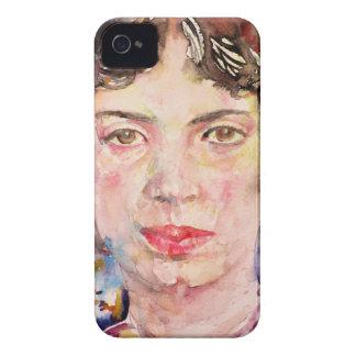 Funda Para iPhone 4 emily dickinson - acuarela portrait.2
