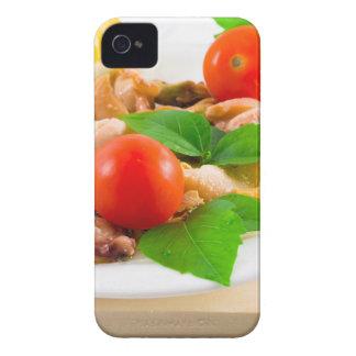 Funda Para iPhone 4 Ensalada de pedazos blanqueados de mariscos en una