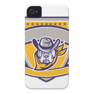 Funda Para iPhone 4 Escudo de la cabeza del vaquero del sheriff del