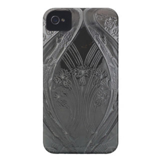 Funda Para iPhone 4 Florero negro del lagarto de cristal del art déco