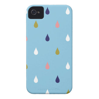 Funda Para iPhone 4 Gotas de lluvia felices