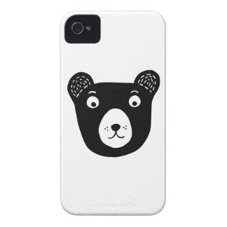 Funda Para iPhone 4 Ilustracion blanco y negro lindo del oso