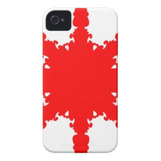 Funda Para iPhone 4 Impresión circular roja