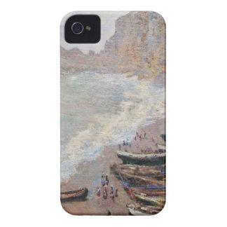 Funda Para iPhone 4 La playa en Etretat - Claude Monet
