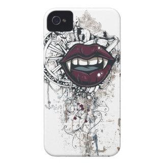Funda Para iPhone 4 labios de Drácula del vintage