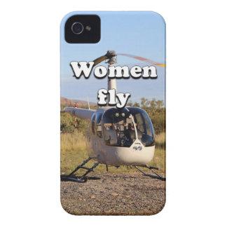 Funda Para iPhone 4 Las mujeres vuelan: Helicóptero 2 (blancos)