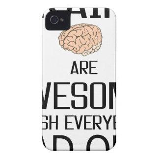 Funda Para iPhone 4 Los cerebros son impresionantes