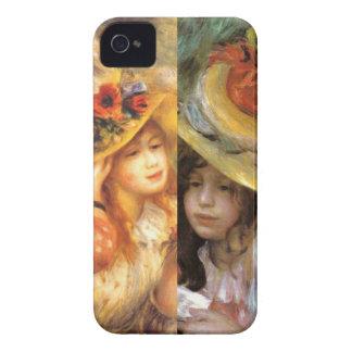 Funda Para iPhone 4 Los gorras con las flores son obras maestras en el