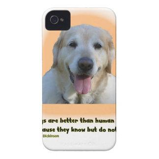 Funda Para iPhone 4 Los perros son mejores que seres humanos
