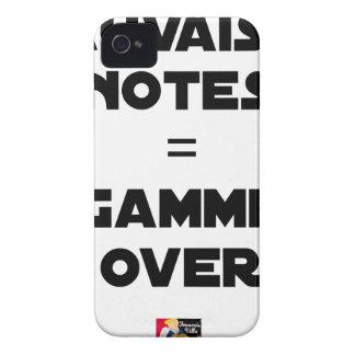 Funda Para iPhone 4 MALAS NOTAS = GAMA OVER - Juegos de palabras