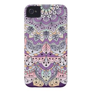 Funda Para iPhone 4 Mandala floral rosada y púrpura linda