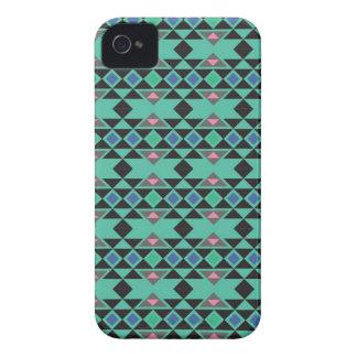 Funda Para iPhone 4 Modelo azteca tribal geométrico del trullo del