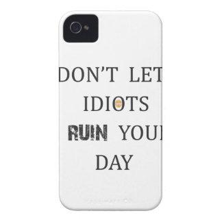 FUNDA PARA iPhone 4 NO DEJE A LOS IDIOTAS ARRUINAR SU DÍA