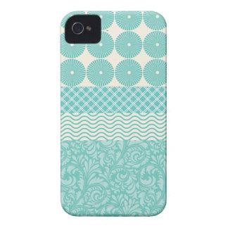 Funda Para iPhone 4 Onda floral de la tela escocesa de los círculos