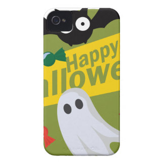 Funda Para iPhone 4 Palos y fantasmas del feliz Halloween