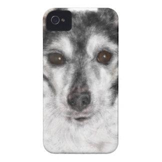 Funda Para iPhone 4 Perro blanco y negro