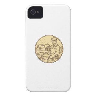 Funda Para iPhone 4 Quesero que hace el dibujo del círculo del queso